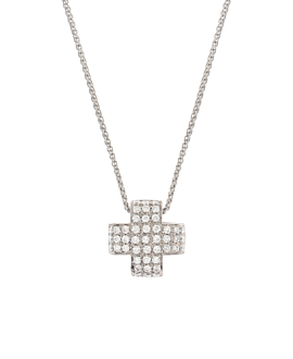 DIAMOND NECKLACE  18K WHITE GOLD