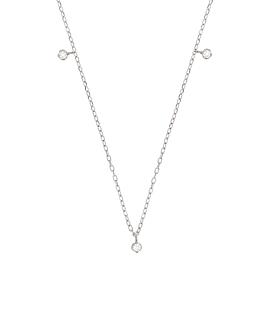 DIAMOND NECKLACE  14K WHITE GOLD