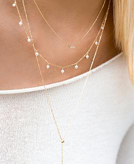 Y Halskette 10K Gold