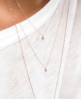 DIAMOND NECKLACE  14K ROSE GOLD
