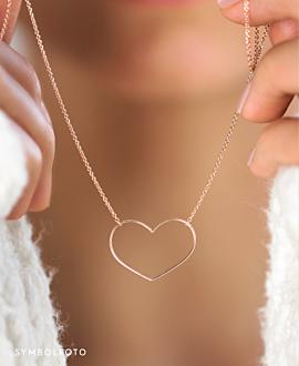 HEART Halskette  14K Gold