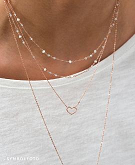 HEART  Halskette Silber