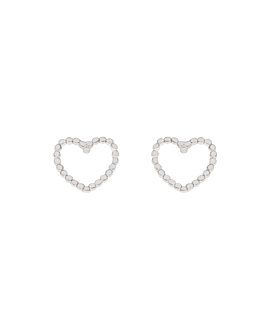 LOVED  EAR STUDS SILVER