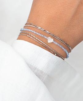 MOONSTONE LOVE  Armband Blau