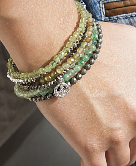 GRANAT Armband Hellgrün
