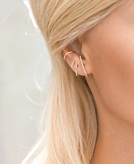 BAR EAR STUD  SINGLE 14K GOLD