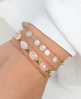IRIDESCENT  Armband Weiß