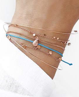 ANANAS  Armband Blau