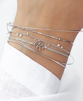 LUCKY LOVE  Armband Silber