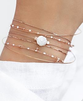 SHIMMERING ROSE  Armband Weiß