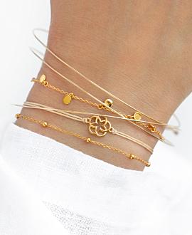 FLOWER OF LIFE  Armband Gold