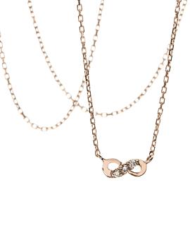 INFINITY Halskette  14K Roségold