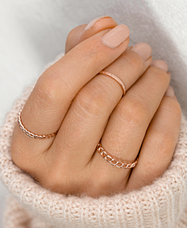 KNUCKLE RING ROSE