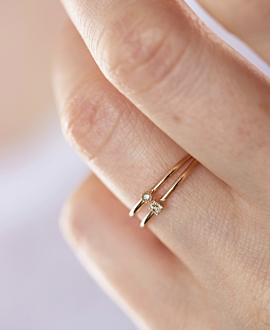 DIAMOND Ring  10K Roségold