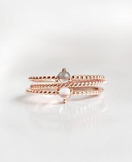 LABRADORITE  Ring Rosé
