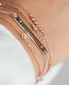 LIEBLINGSMENSCH  Armband Beige