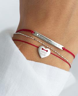 LIEBLINGSMENSCH Armband Rot