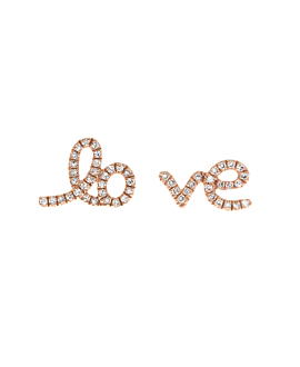 LOVE EAR STUDS  14K ROSE GOLD