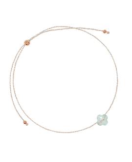 LUCKY CLOVER BRACELET LIGHT BLUE
