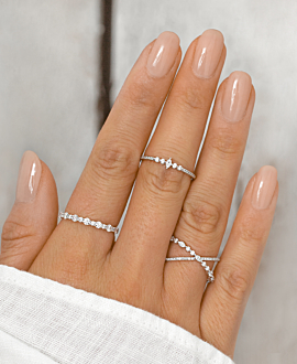 MEMOIRE RING  14K WHITE GOLD