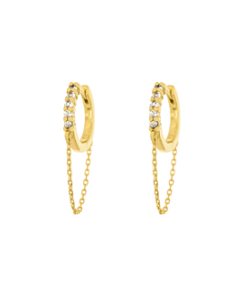TOPAZ CHAINLET  HOOPS GOLD