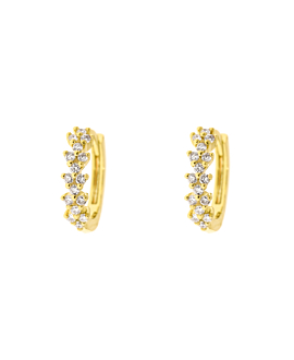 DIAMOND HOOPS  14K GOLD