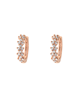 DIAMOND HOOPS  14K ROSE GOLD