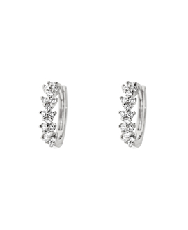 DIAMOND HOOPS  14K WHITE GOLD
