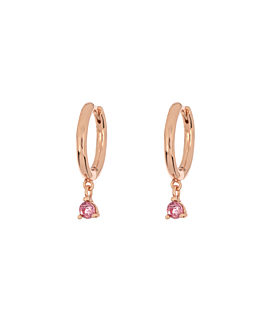 TOURMALINE CHARM  HOOPS ROSE