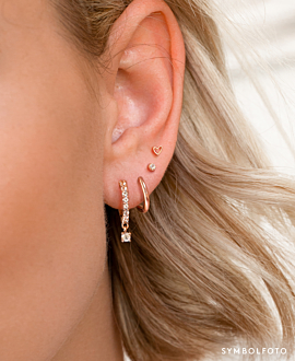 MINI TRUE LOVE  EAR STUDS SILVER