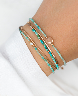 MOONSTONE GLITZ  BRACELET LIGHT BLUE