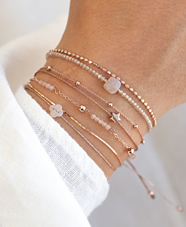 MOONSTONE GLITZ  BRACELET LIGHT BROWN