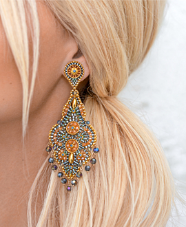 AUTUMN HAZE  EARRINGS