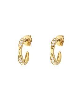 DIAMOND Creolen|14K Gelbgold