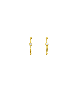 DIAMOND Creolen|14K Gold
