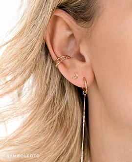 MOON  EAR STUDS SILVER