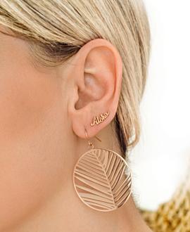 PALM LEAF  EARRINGS ROSE