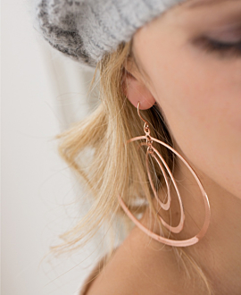 CIRCLES  EARRINGS ROSE