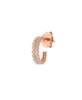 DIAMOND Creole|Single 14K Roségold