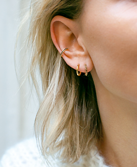 QUARZ Ear Cuff Single Gold