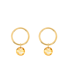 FLYING CITRINE  Ohrringe Gold