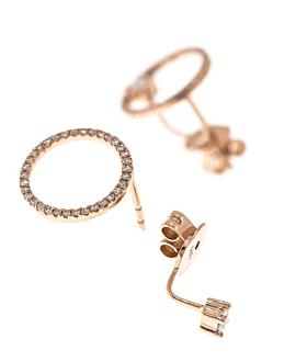DIAMOND EAR JACKETS 14K ROSE GOLD