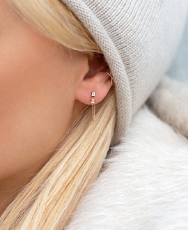 TOPAZ Ear Jacket Single 14K ROSÉGOLD