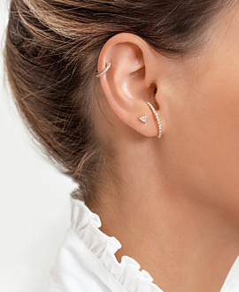 DIAMOND EAR STUD  SINGLE 14K ROSE GOLD
