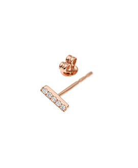 DIAMOND EAR STUD|SINGLE 14K ROSE GOLD