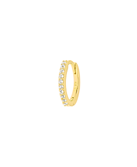 TOPAZ HOOP  SINGLE GOLD 8MM