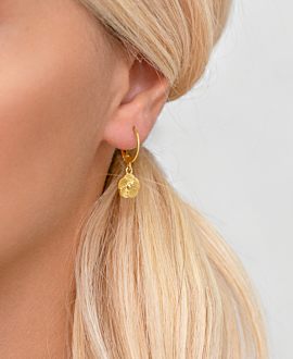 WIND FLOWER  HOOPS GOLD