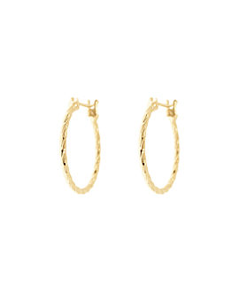 CECILIA HOOPS|GOLD 20MM