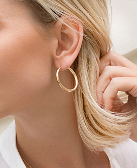MARLA HOOPS  GOLD 25MM
