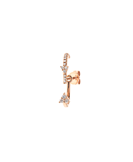 DIAMOND Ear Jacket|Single 14K Roségold